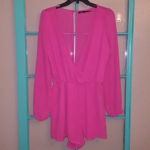 Other - HOT pink romper!